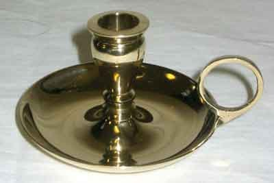 "Brass Chime Candlestick Candle Holder for 1/2"" Diamater Candles"