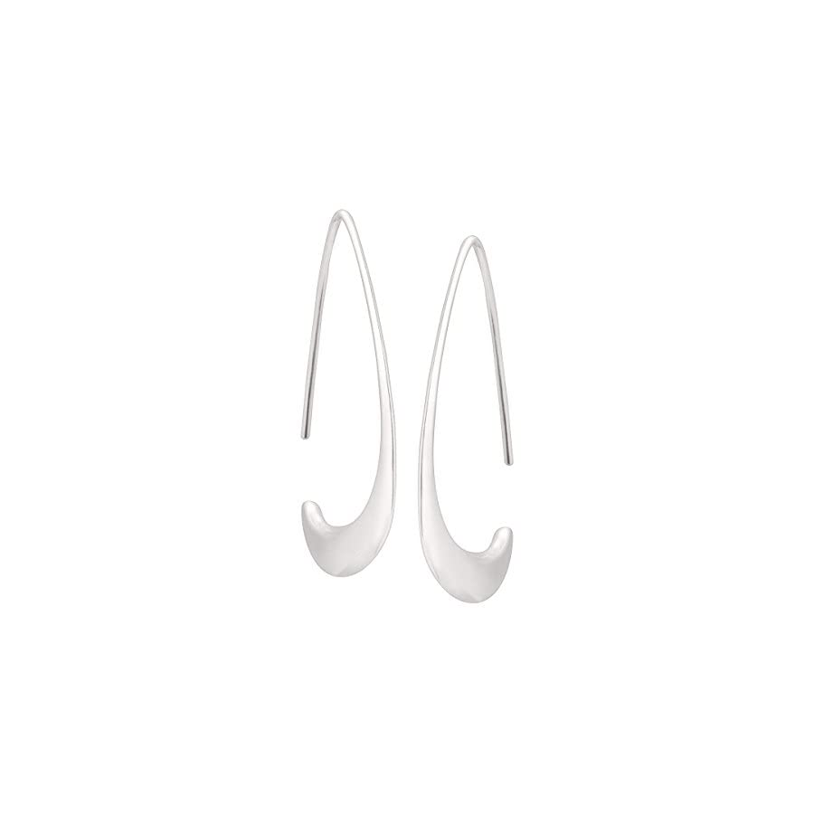 Silpada 'Silhouette' Tapered Wire Open Drop Earrings in Sterling Silver