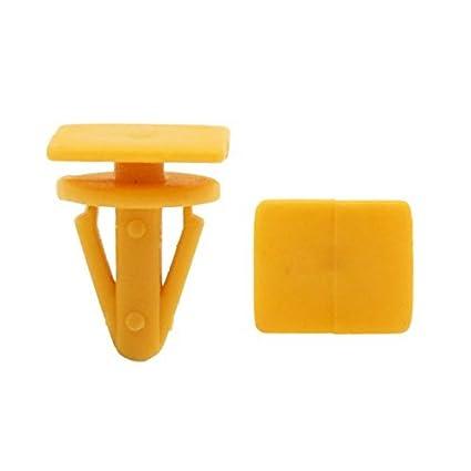eDealMax Clips 40Pcs Naranja Interior de moldeo parachoques Fender sujetadores Remaches DE 13 mm Para el