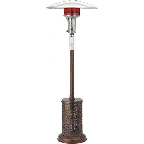 Sunglo 40000 Btu Propane Gas Patio Heater - Bronze - Gas Freestanding Portable Patio Heater