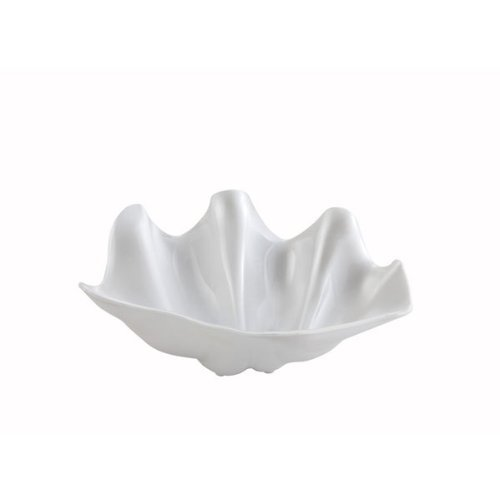 Winco PSBW-5W, 5-Quart Pearl Shell Bowl, Salad Serving Dish, Plastic Serving Ice-Cream Dessert Salad Bowl