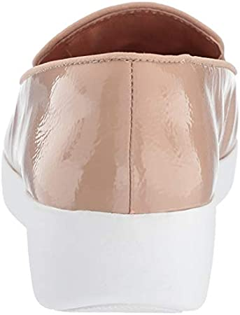 FitFlop Audrey Crinkle-Patent Smoking, Mocasines Mujer, 33