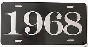 Motown Automotive Design 1968 68 Year License Plate Metal TAG 6 X 12 HOT Rod Muscle CAR Classic Man CAVE Museum Collection Novelty Gift Sign FITS Ford FITS Chevy FITS Dodge FITS Plymouth