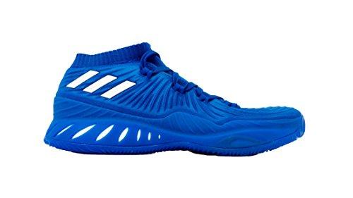 Adidas Gek Explosieve Lage Schoen Basketbal Van Mensen Blauw Effen Wit-macht Rood