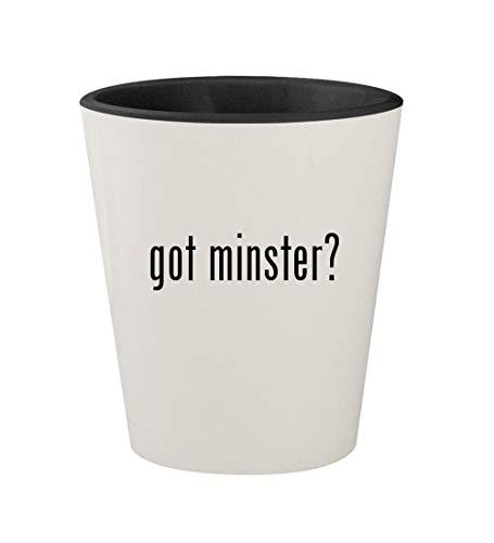 got minster? - Ceramic White Outer & Black Inner 1.5oz Shot ()