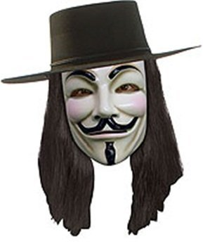 V for Vendetta Wig, Black, One Size]()