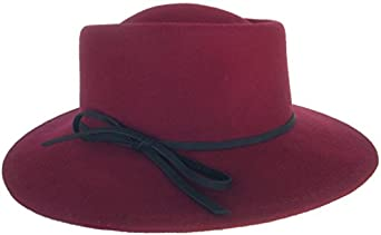 1950s Women's Hat Styles & History Brooklyn Hat Co Wrangler Womens Boater Wool Felt Fedora Music Festival Hat $38.95 AT vintagedancer.com