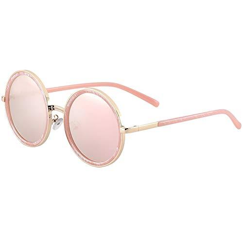 sol de Gafas de sol marco polarizadas de de NIFG gafas moda gran rosado redondo 0Zq5xw