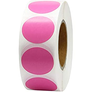 Hcode 1 Inch Color Coding Label Garage Sale Stickers Blank Yard Sale Price  Stickers Round Colorful Stickers Permanent Adhesive Dots Stickers Glossy