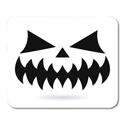 Gaming Mouse Pad Scary Halloween Pumpkin Face Vector Design Ghost or Monster Mouth 7.18.7 Inches Decor Office Nonslip Rubber Backing Mousepad Mouse Mat -