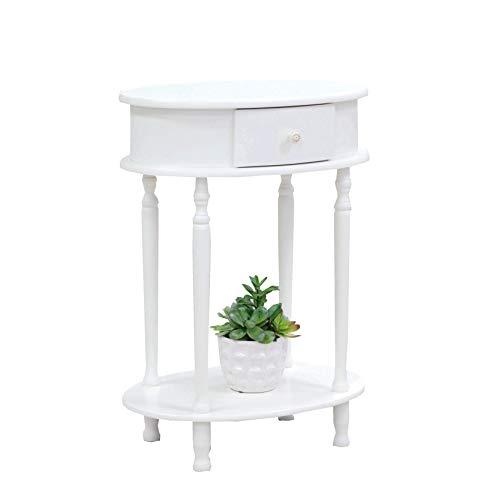 Frenchi Home Furnishing Wood Plant Stand, White Finish (Plant Finish Oak Stand)