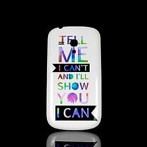 SHOUJIKE Phrase Pattern Hard Case for Samsung Galaxy S3 Mini I8190