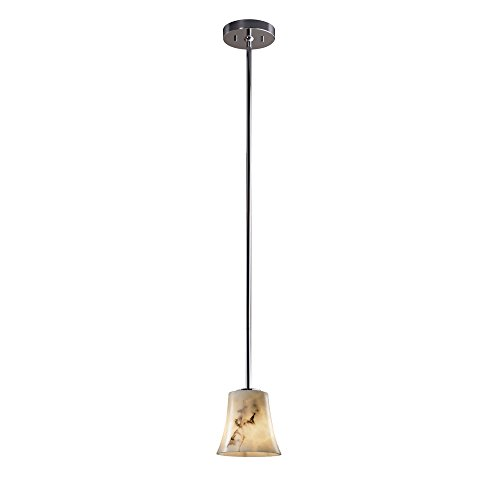 Justice Design Group FAL-8815-20-NCKL LumenAria Collection Mini 1-Light Pendant ()