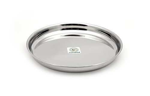 Coconut Stainless Steel Beeding Plate   6 Qty  Diameter 13 Inch