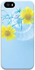 Yellow Daisies In Vase Apple iPhone 5 5S Case, 3D iPhone 5 5S Cases Hard Shell Cover Skin Cases