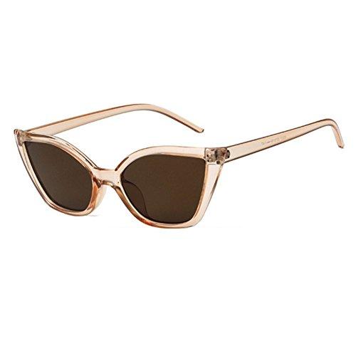 mujeres Shown marco de Clout Vintage sol ojo para Goggles WeiMay de de estrecho policarbonato moda gato gafas de As P6xUq
