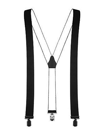 shenky - Bretelles en Y - 3 pinces résistantes - unisexe - noir ... 60c20a285e3