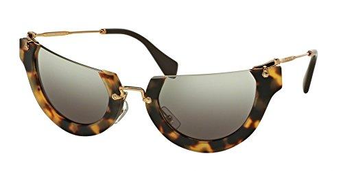 Miu Miu MU11QS HAN4N2 Tortoise MU11QS Cats Eyes Sunglasses Lens Category 2 - Miu Aviator Sunglasses Miu