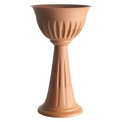 Vasi Per Giardino In Plastica.Vaso Colonna Interno Esterno Giardino Fioriera Plastica Terracotta Vasi Bama 100 Made In Italy