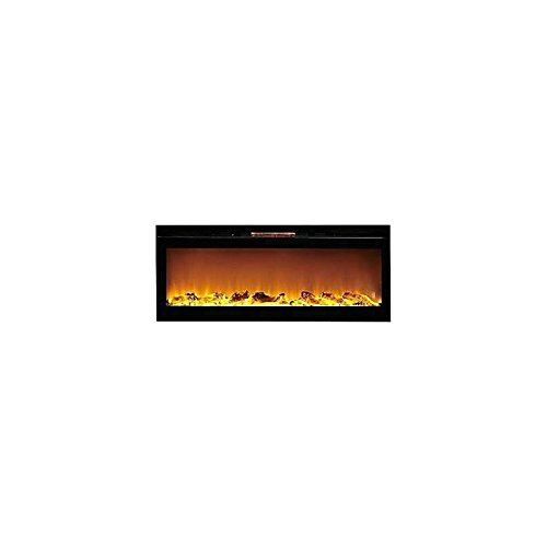 Gibson Living GL2060WL Reno 60 Inch Log Built-In Recessed Rampart Mounted Electric Fireplace
