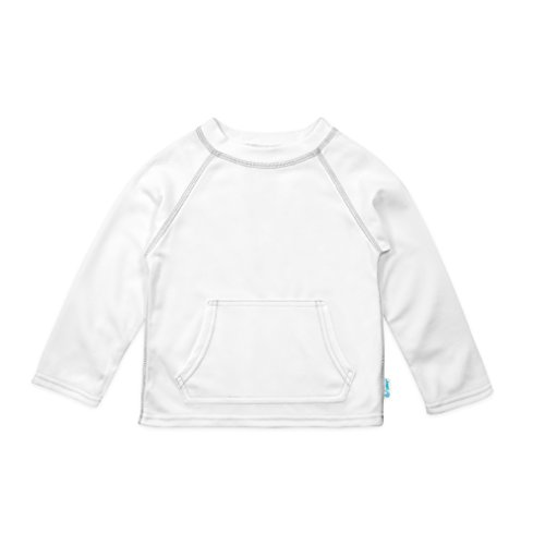 i play. Baby Breatheasy Sun Protection Shirt, White, 18/24mo