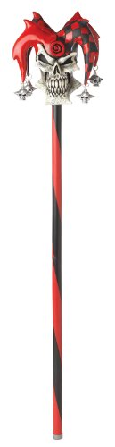California Costumes Men's Psycho Jester Cane, Red/Black, One Size