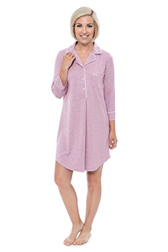 Women's Nightshirt in Bamboo Viscose (Zenrest, Heather Lilac, Large) Comfortable Nightshirt for Her WB0475-2P1-L