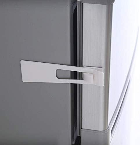 Surobayuusaku Baby Child Safety Protect Locks Fridge Guard Cupboard Refrigerator Door Drawer Home Indoor Safety Latch Easy to Install