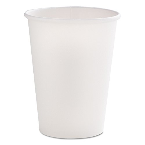Dopaco 16997 Tall Paper Hot Cup, 12 oz. Capacity, White (Case of 1,000)