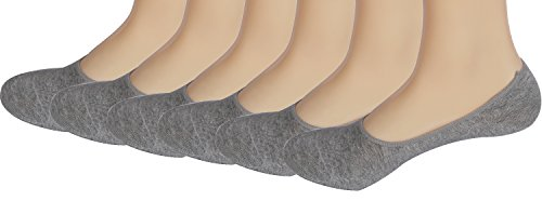 Areke Men's Cotton Casual No Show Socks Non Slip Low Cut Thin Boat Liners Pack of 6 to 10 Pairs Color Light Grey 6Pair Size US Shoe Size - Socks Dry Low Cut Extreme
