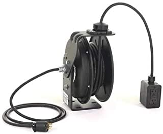 product image for Retractable Cord Reel with 50 ft. Cord 2-Outlet 12/3