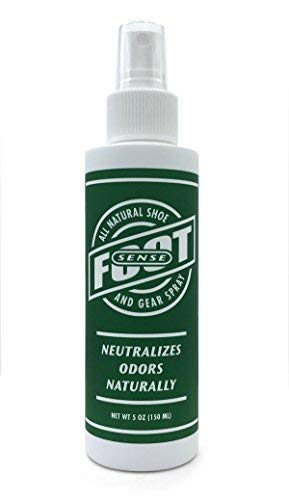 FOOT SENSE All Natural Shoe and Gear Spray - Foot & Shoe Odor Eliminator - Eliminates Odors Immediately Neutralizes Bad Odors. Natural Formula for Smelly Shoes & Stinky feet.