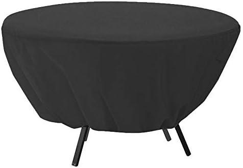 Fdit - Cubierta para mesa redonda resistente al agua y al viento, protección contra el polvo, para jardín, patio, muebles para exteriores: Amazon.es: Hogar
