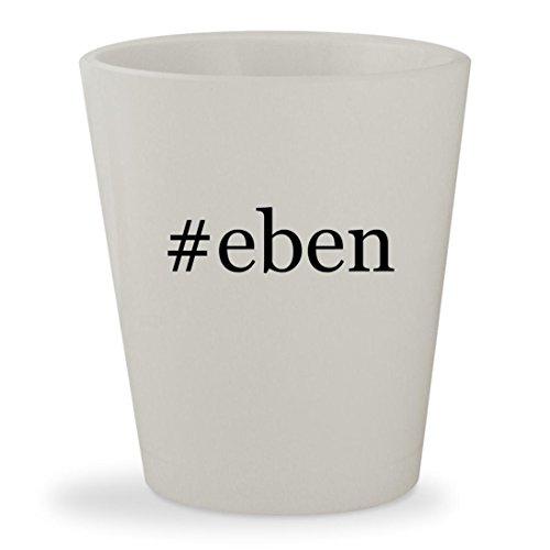 #eben - White Hashtag Ceramic 1.5oz Shot Glass