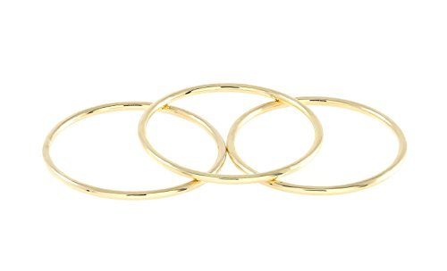 Trio Rings 14k or 18k Rose Yellow White Real Gold Skinny Simple Midi Stacking Trio Rings,Thin Gold Women Jewelry