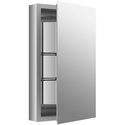 26'' H x 15'' W Aluminum Single-Door Cabinet with Mirrored Door by Kohler