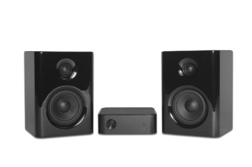 Kanto Speakers YARO-COMBO 2-Channel Audio System with Bang and Olufsen ICEpower Technology (Piano Black) by Kanto