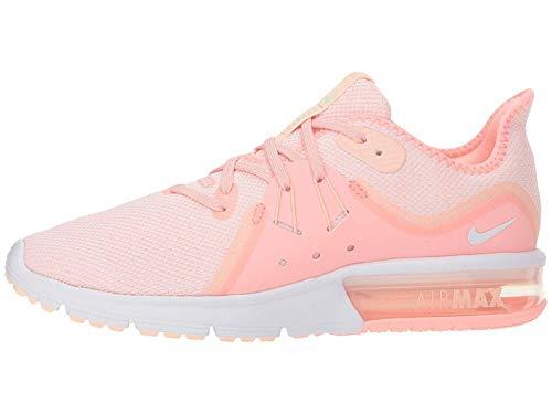 NIKE Women's Air Max Sequent 3 Running Shoe (10 B US, Pink Tint/White/Crimson Tint/Vapor - Running Pink Nike Women Shoes