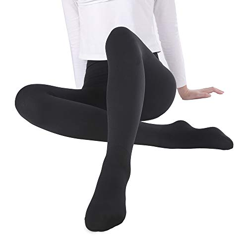 Shorts Thermal Lined (WEANMIX Women's Winter Warm Tights Thick Leggings Stretch Control Lined Thermal Pants Velvet Nude/Black)