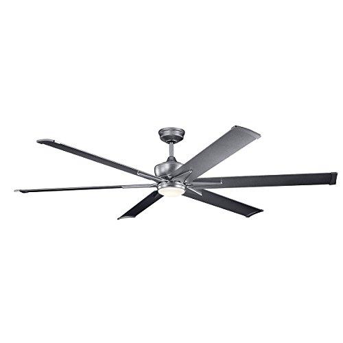 """Kichler 300301WSP Szeplo Patio Ceiling Fan With Lights 80"""" W"""