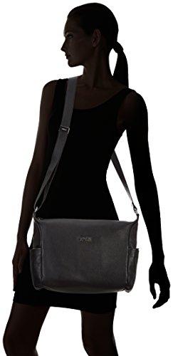 BREE Nola 3 - Bolso de hombro de cuero mujer negro - negro (black 900)