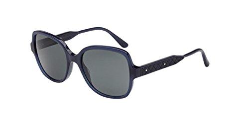 Bottega Veneta BV0015SA 004 Blue Blue Somke - Collapsible Wayfarer Sunglasses