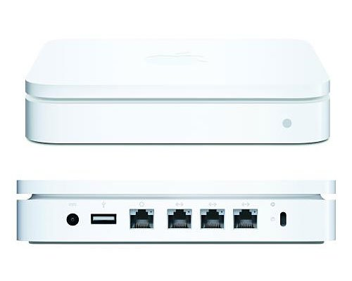 Apple AirPort Extreme Base Station (Simultaneous Dual-Band) (MC340LL/A) by Apple