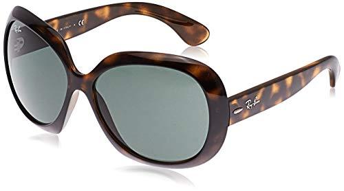 Ray-Ban Women's RB4098 Jackie Ohh II Oversized Sunglasses, Light Havana/Dark Green, 60 mm (Ray Bans Jackie Ohh)