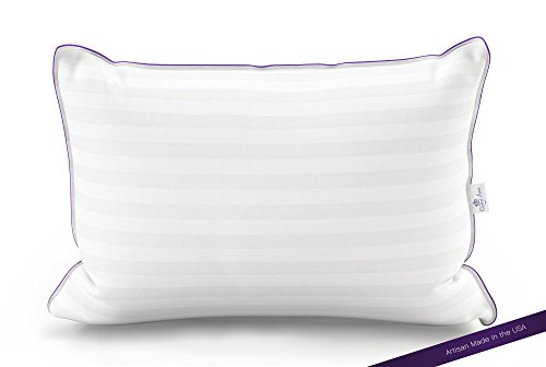 Down Pillow Back Sleeper (The Original Queen Anne Pillow - French Goose Down Luxury Pillow - Hotel Collection - Made in USA (King Size, Medium Fill))