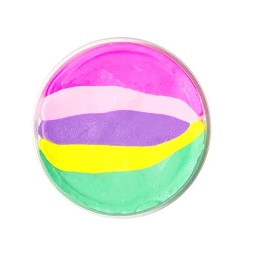 (SMALLE ◕‿◕ Slime Toys for Girls, 2019 Beautiful Color Butter Rainbow Birthday Cake Slime Toys Kids Stress Toys)