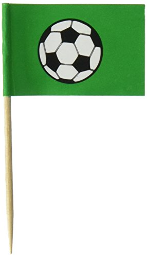 Beistle 50-Pack Soccer Ball Picks, 2-1/2-Inch (Mini Soccer Cake Topper)