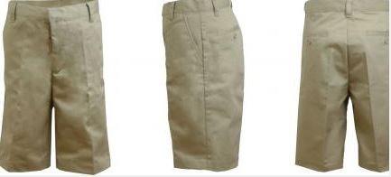K&A Company Boys Husky Khaki Flat Front Shorts - Size 14H Case Pack 24 by K&A Company