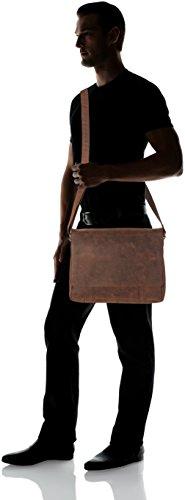 Sansibar Messenger Bag - Bolsos bandolera Unisex adulto Marrón (Dark Brown)