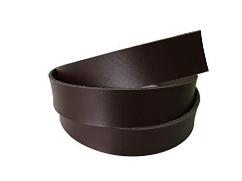 "Lipskiy 8 oz 51-55"". Brown Chocolate Genuine Natural Leather Belt Blank Strip Strap Band. (1 1/2"" (38mm.))"